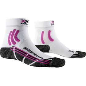 X-Socks Sky Run Two Chaussettes Femme, arctic white/opal black